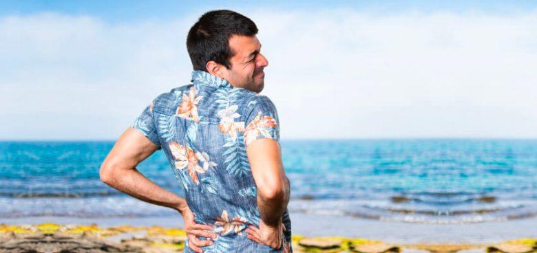 dolor de espalda en vacaciones