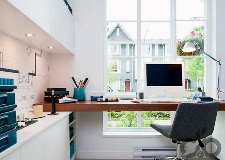 habitación transformada en oficina