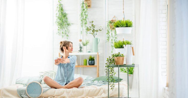 cuarto con plantas